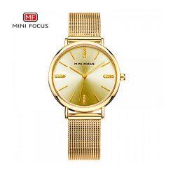 Mini Focus Quartz Women Watch - Gold