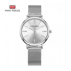 Mini Focus Quartz Women Watch - Silver