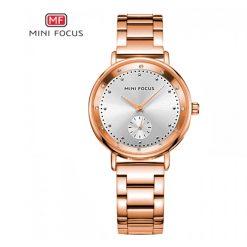 Mini Focus Sub-Dial Luxury Quartz Women Watch - Bronze