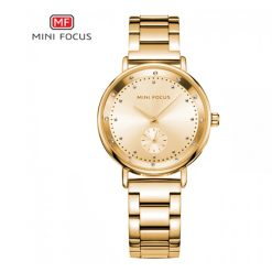 Mini Focus Sub-Dial Luxury Quartz Women Watch - Gold