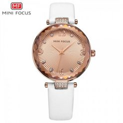 Mini Focus Luxury Crystal Quartz Women's Watch - White