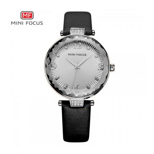 Mini Focus Luxury Crystal Quartz Women's Watch - Black