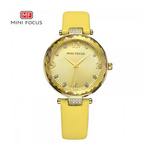 Mini Focus Luxury Crystal Quartz Women's Watch - Gold