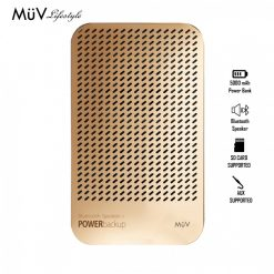MUV Bluetooth Speaker With 5000 mAh Powerbank - Gold