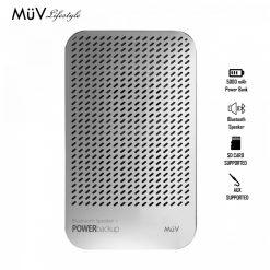 MUV Bluetooth Speaker With 5000 mAh Powerbank - Silver