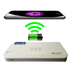 MüV 10000 mah Quick Charge And Wireless Charge Powerbank With 3 USB Port - White