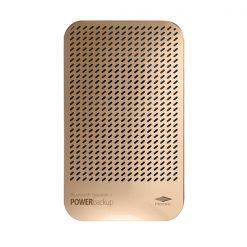Bluetooth Speaker With 5000mAh Powerbank - Gold