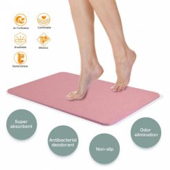 Magic Diatomaceous Earth Bath Mat - Pink