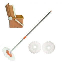 Compact Foldable Spin Mop - Orange