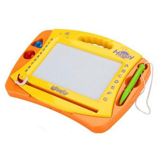 Magnetic Drawing Sketch Pad Doodle Board for kids - Yellow/Orange