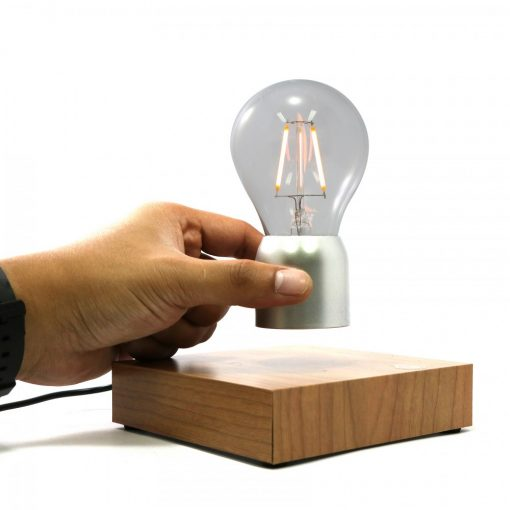 Magnetic Levitation Light Bulb - Silver