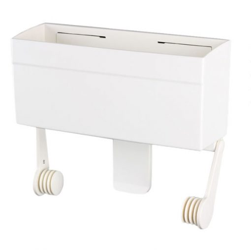Magnetic Storage Box and Paper Towel Holder - White