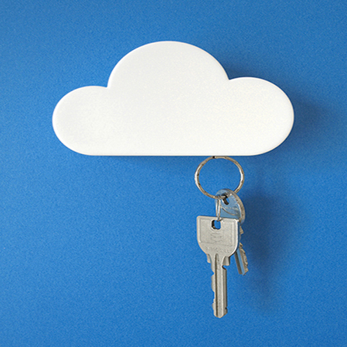 Magnetic Cloud Key Holder- White