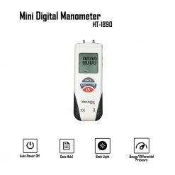 Digital Air Pressure Meter Manometer - Gray