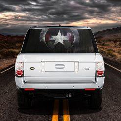 High Beam Super Hero Car Tint Rear Window Sticker DT05 - Black