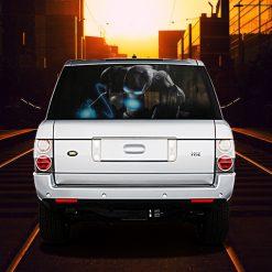 High Beam Super Hero Car Tint Rear Window Sticker DT36 - Black