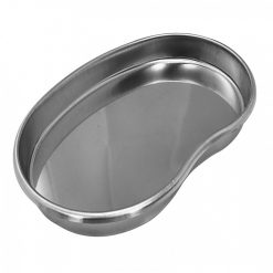 Kidney Shape 201x140x25mm Stainless Steel Medication Tray - Silver