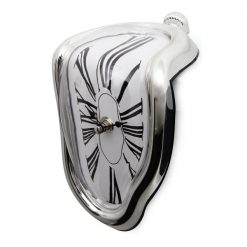 Melting Quartz Clock - Silver