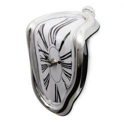 Melting Quartz Clock - Silver