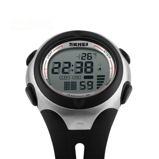50M Waterproof Positive Display Temperature Watch - Black