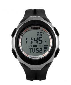 50M Waterproof Positive Display Temperature Watch - Black