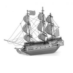 Metallic Nano Puzzle -  Black Pearl Ship
