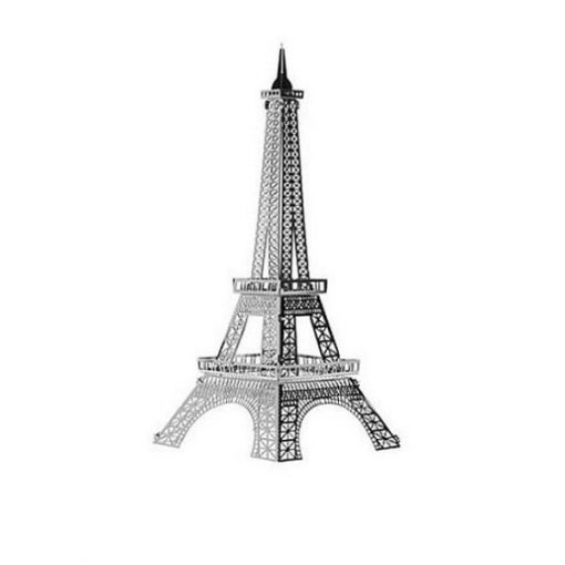 Metallic Nano Puzzle -  Eiffel Tower