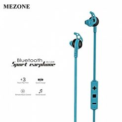 Mezone Bluetooth In Ear Running Music Stereo Handsfree Headphones - Blue
