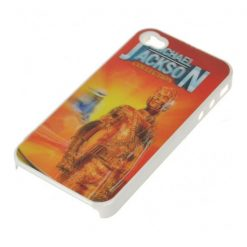 Michael Jackson 3D Protective case for Iphone 4/4s - White