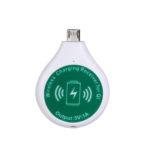 Micro USB Qi Wireless Charger Receiver - White