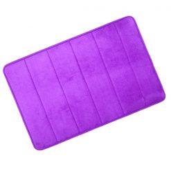 Microfiber Memory Foam Bathroom Mat - Purple
