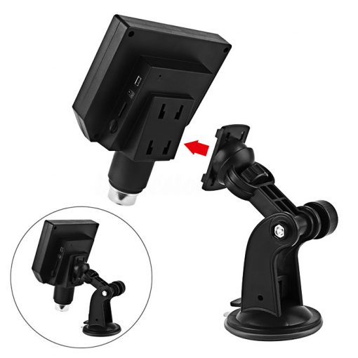 Portable Digital Microscope With LCD Monitor - Black