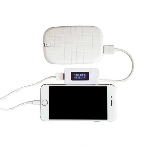 Mini Mobile Power Capacity Tester - White