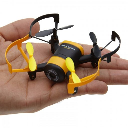 Mini UFO Wifi Phone APP Control Quadcopter With 0.3MP HD Camera - Yellow