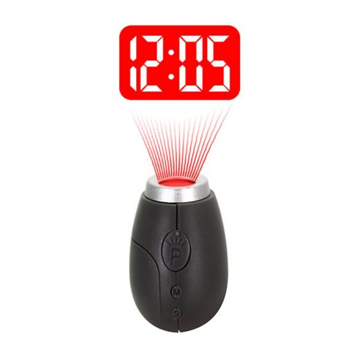 Mini LCD Projection Clock - Black