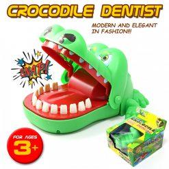 Mini Crocodile Dentist Biting Mouth Mini Game - Green