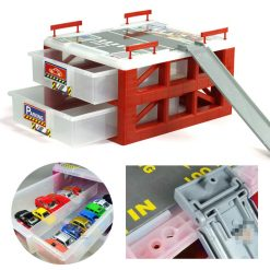 30 Slot Storage Box For Toy Car - Red