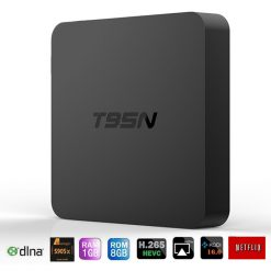 Mini Quad Core Android Smart TV WiFi Box - Black