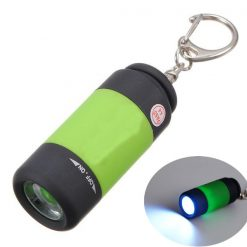 Mini USB Rechargeable LED Flashlight - Green