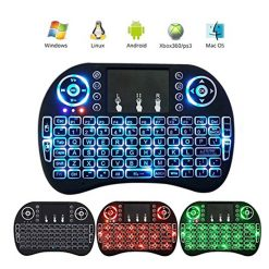 Mini Portalbe Wireless Keyboard & Mouse Combo with Backlit - Black