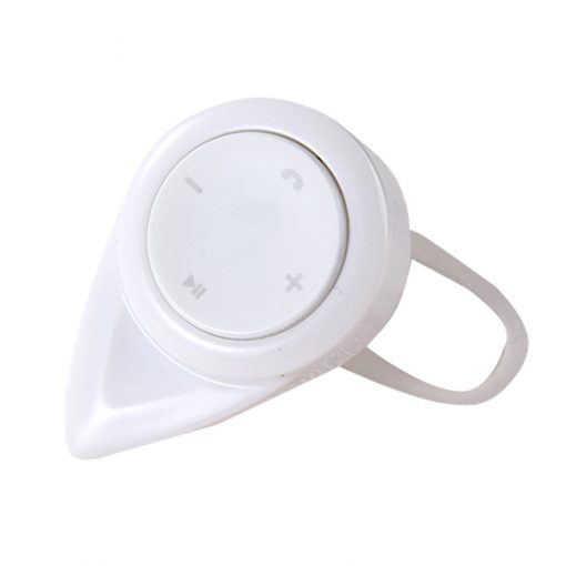 Mini Wireless Relaxed Safety Bluetooth Headset Pointed - White