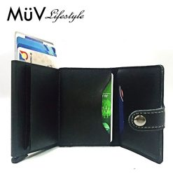 MüV Safecard Wallet Card Case with Anti RFID Reader - Black