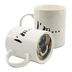 Dog Nose Coffee Mug for Animal Lovers - White