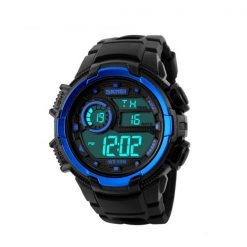 50M Waterproof Multifunction Digital Watch with Stop Watch and Alarm Clock - Blue