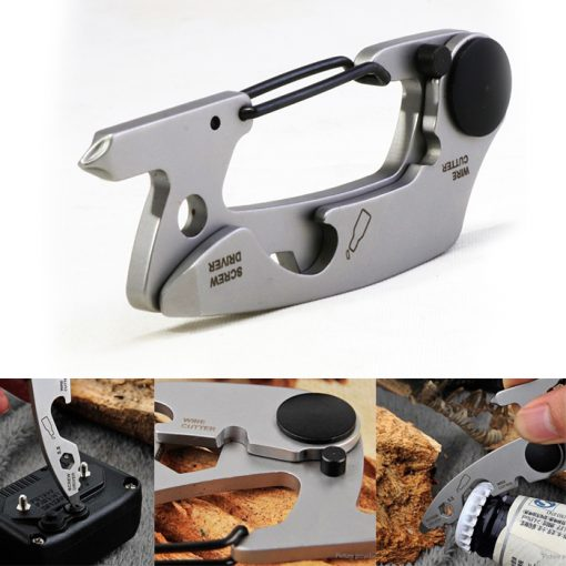 Outdoor Multi-purpose Stainless Steel EDC Tool - Silver
