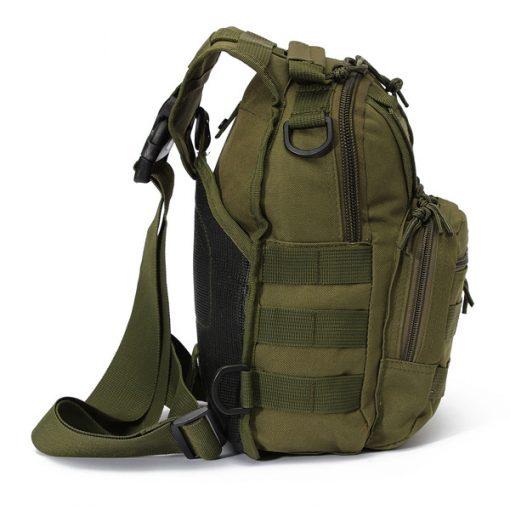 Multifunction Tactical Single Strap Body Bag - Green