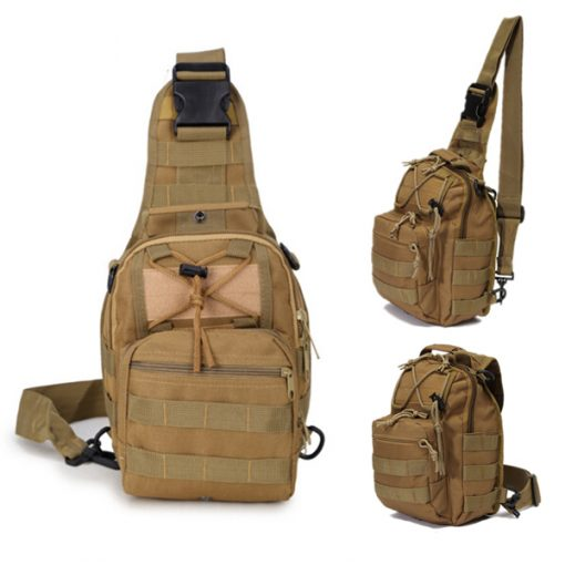 Multifunction Tactical Single Strap Body Bag - Brown