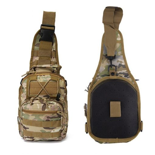 Multifunction Tactical Single Strap Body Bag Camouflage - Brown