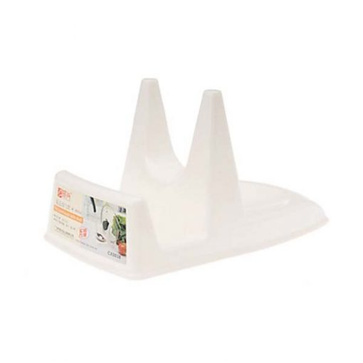 Multifunctional Frypan Lid Shelf - White