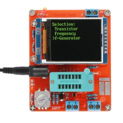 Multifunctional LCD Transistor Tester DIY Kit With Acrylic Case - Red